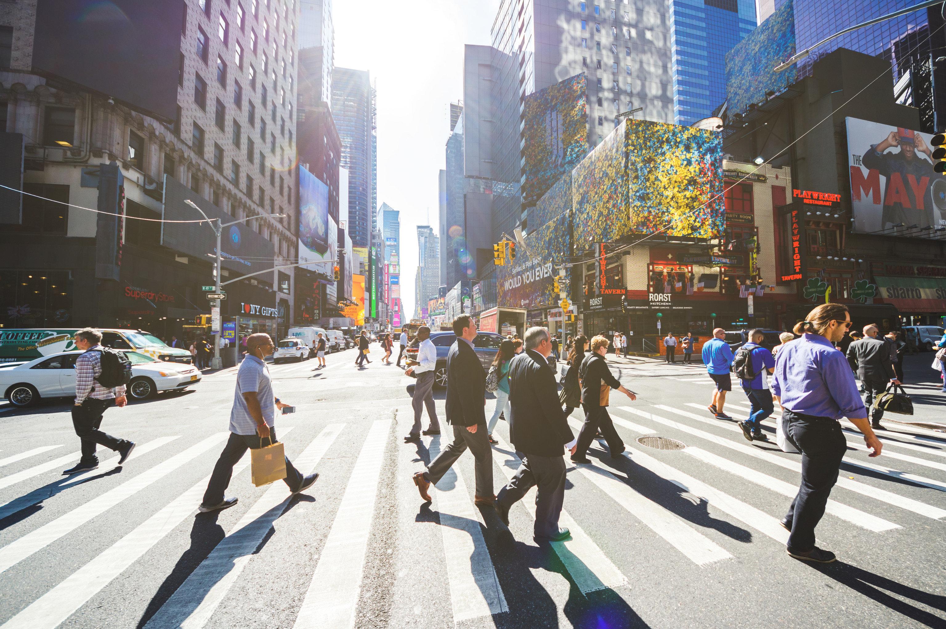 Style + Design Travel Tips urban area pedestrian metropolitan area City infrastructure Downtown pedestrian crossing street daytime metropolis crowd road recreation Winter lane zebra crossing walking building