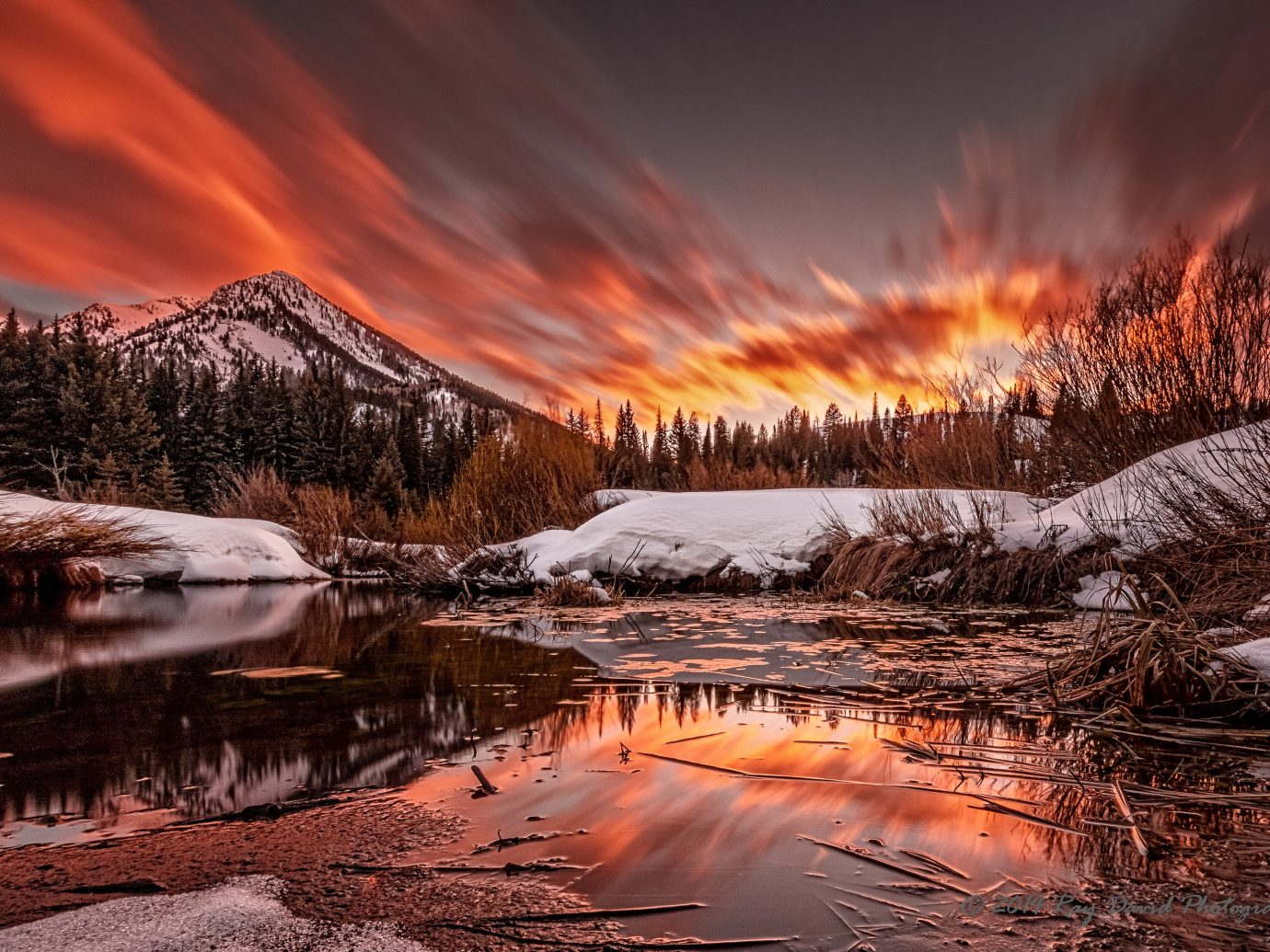 Trip Ideas outdoor sky snow Nature reflection wilderness sunrise Winter pond geological phenomenon dawn Sunset season morning evening landscape mountain dusk canyon autumn area surrounded several