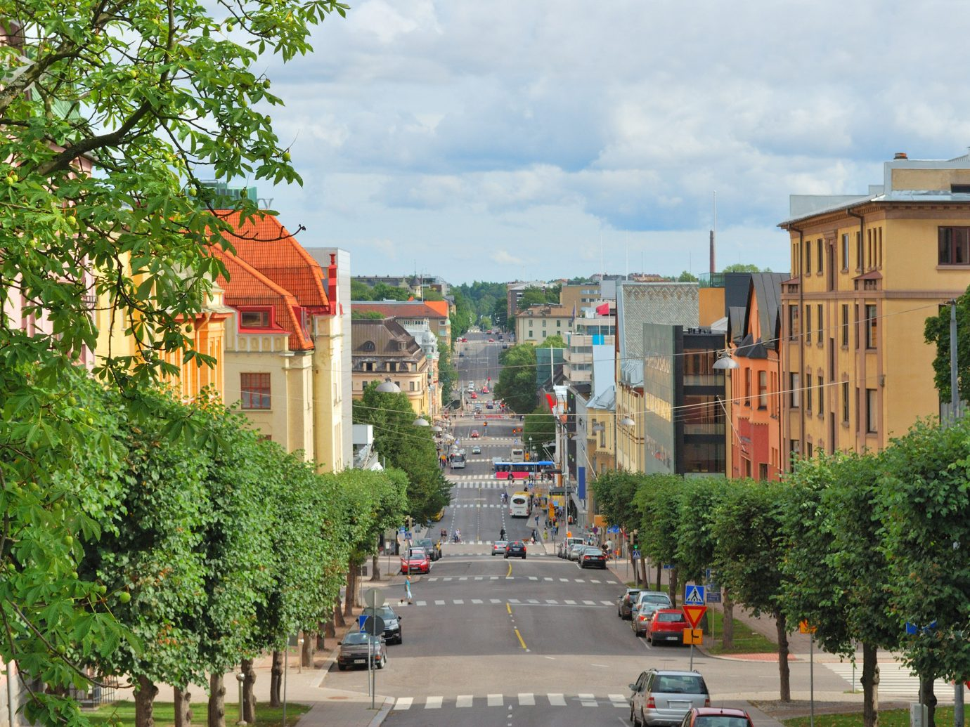 Finland Trip Ideas tree outdoor sky City urban area neighbourhood Town street metropolitan area plant residential area Downtown road real estate metropolis house lane light plaza suburb way recreation lined day