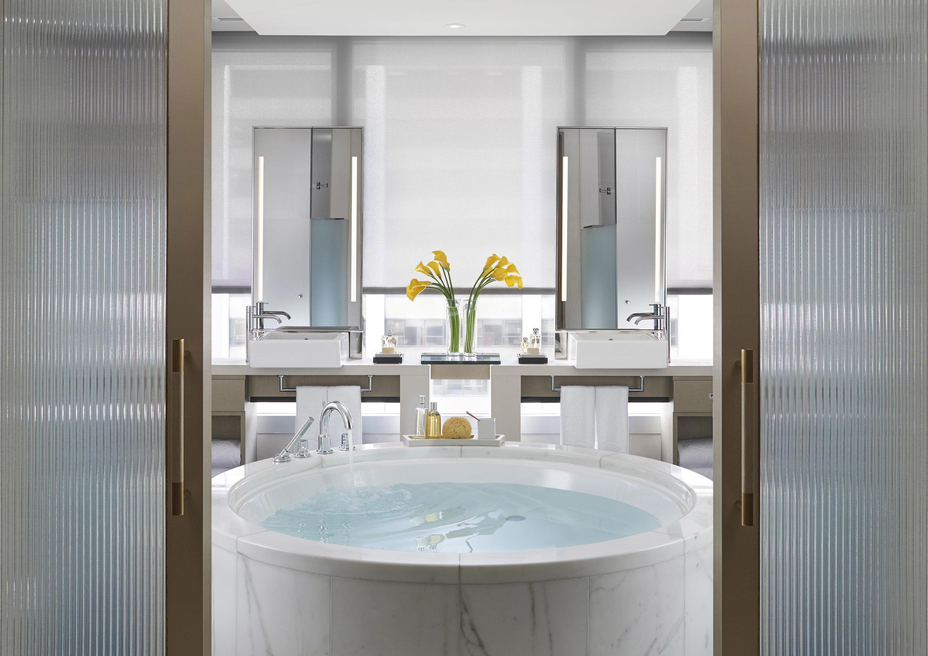 Hotels bathroom indoor wall window room property sink bathtub interior design shower floor white home swimming pool plumbing fixture Design Suite apartment tub Bath