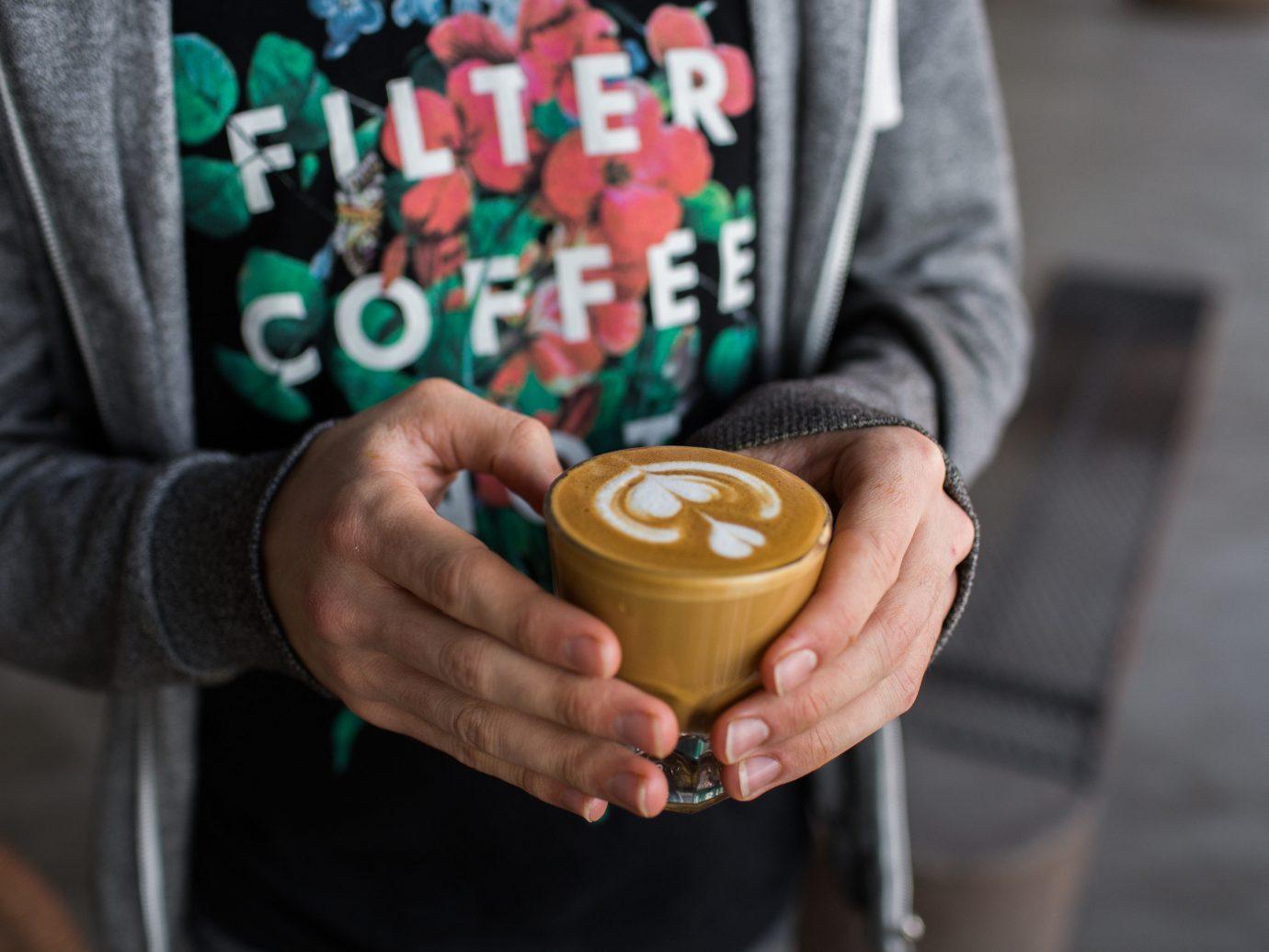 Trip Ideas person cup coffee food sense hand beverage