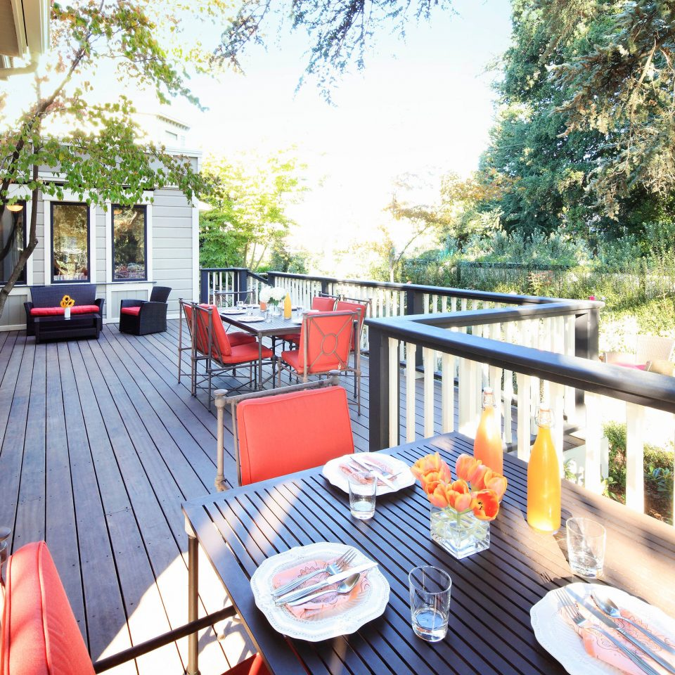 tree property home cottage backyard outdoor structure porch Deck