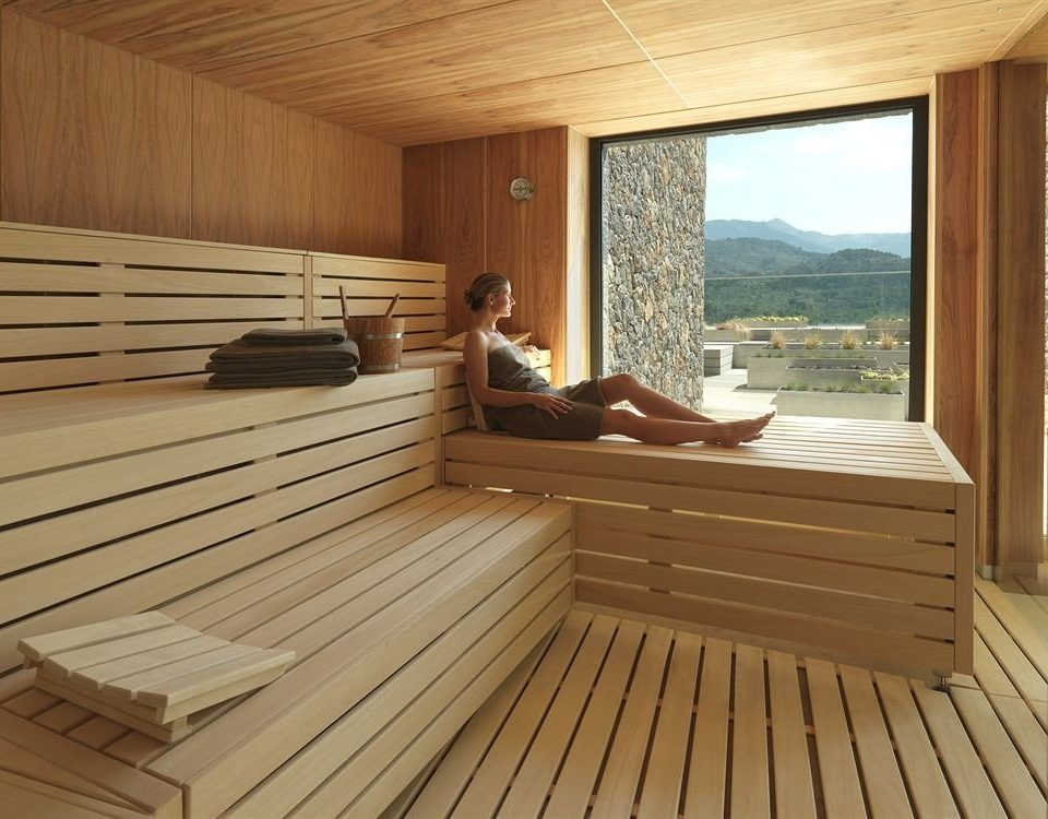 wooden hardwood swimming pool Deck sauna bathroom