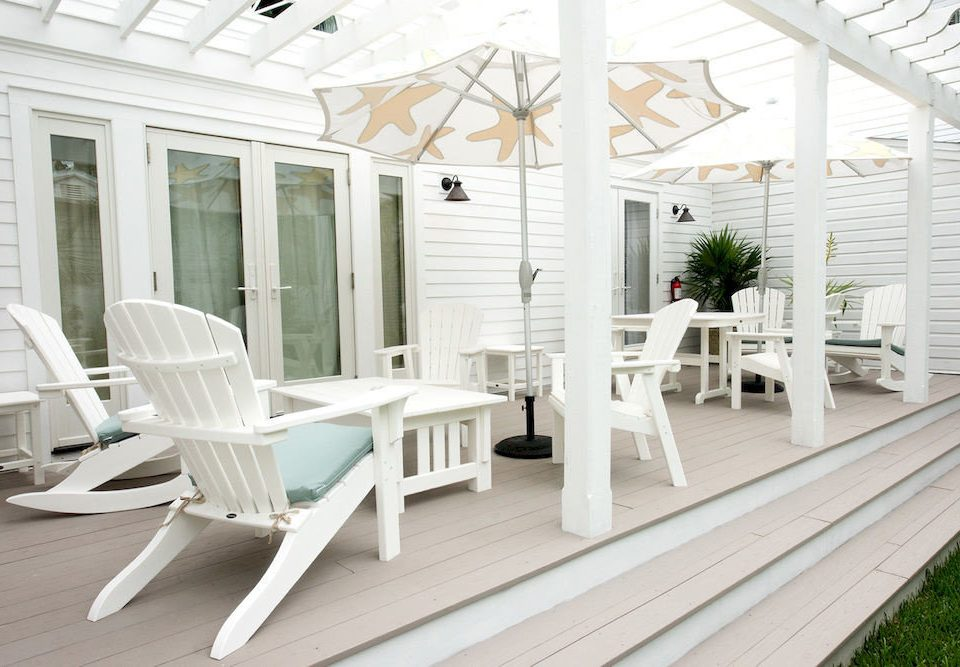 building chair porch property white outdoor structure home living room Deck cottage