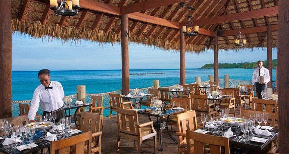 chair restaurant Resort wooden Dining Deck set