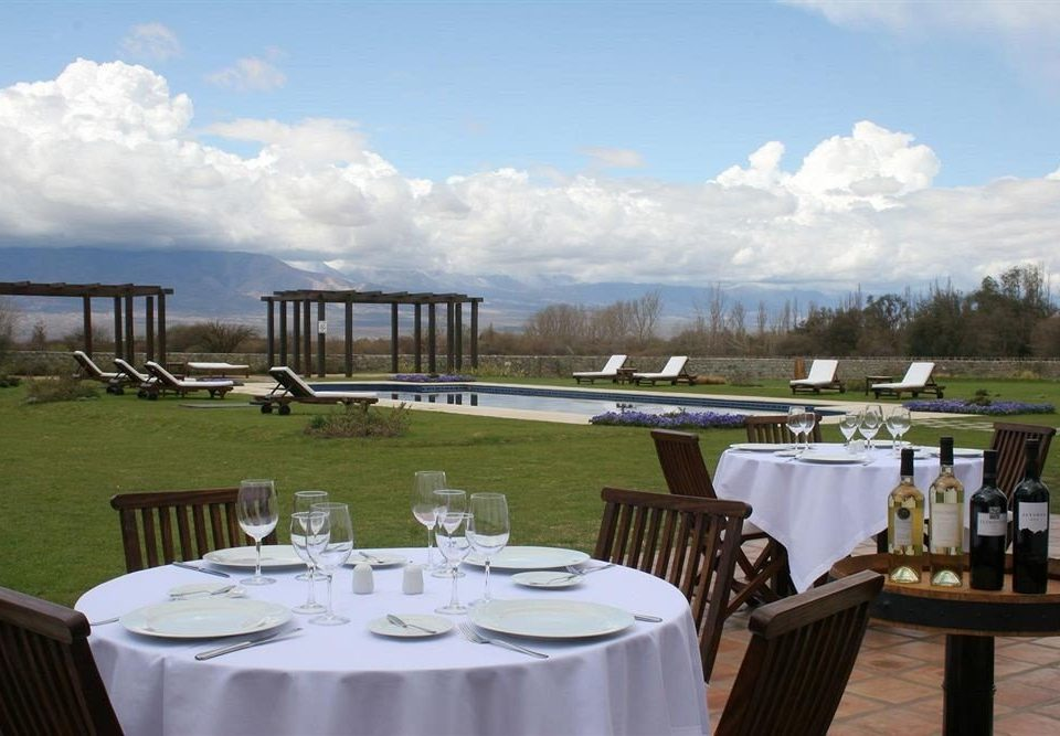 sky grass chair restaurant Resort Dining set dining table overlooking Deck