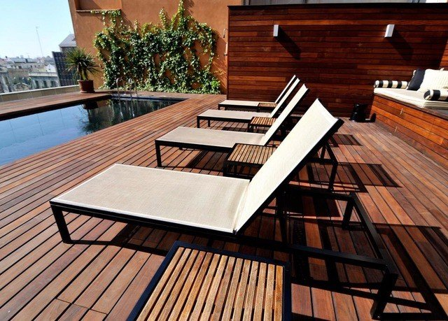wooden Deck hardwood outdoor structure flooring wood flooring dining table