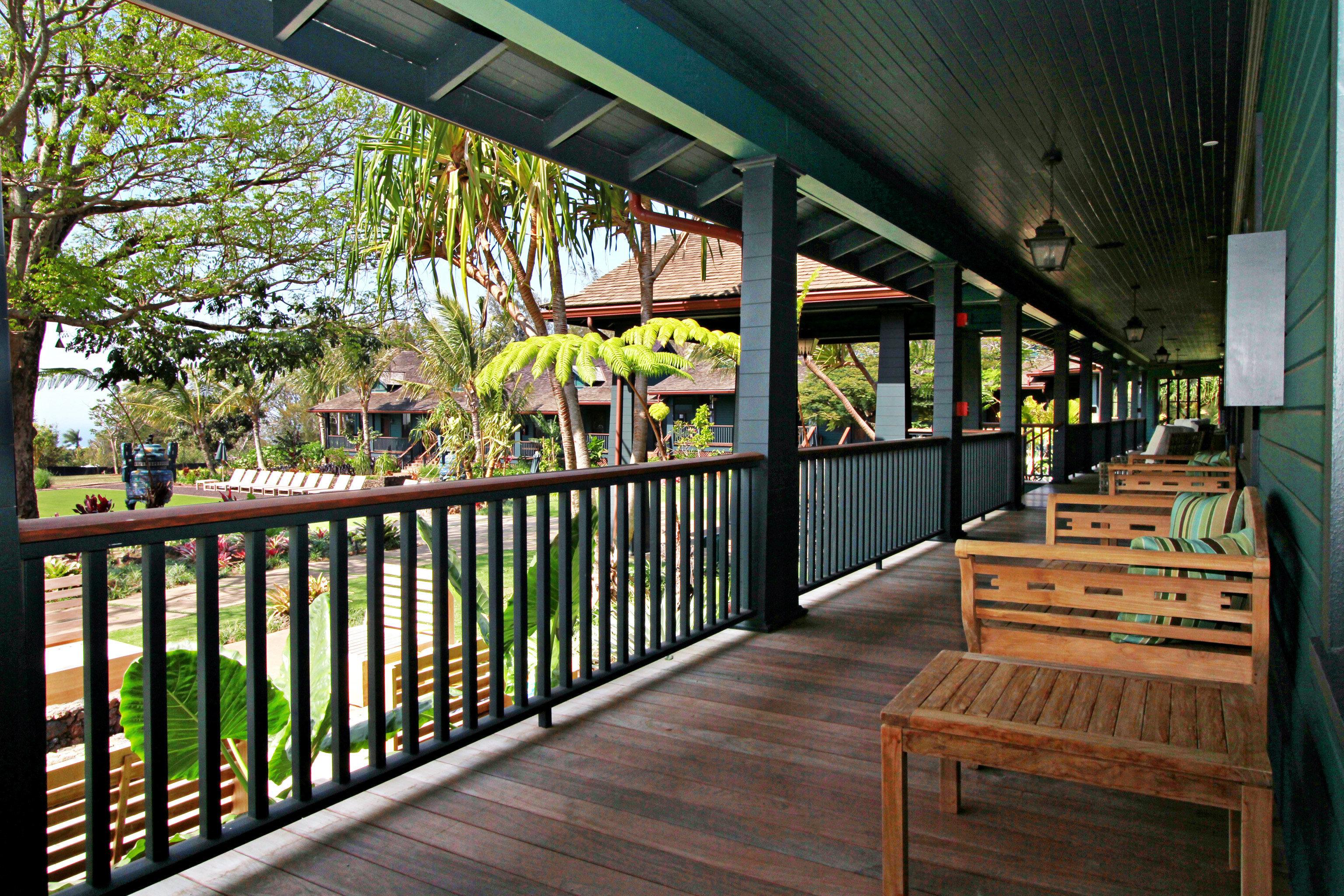 Eco Garden Outdoors Patio Scenic views building wooden porch outdoor structure restaurant Deck
