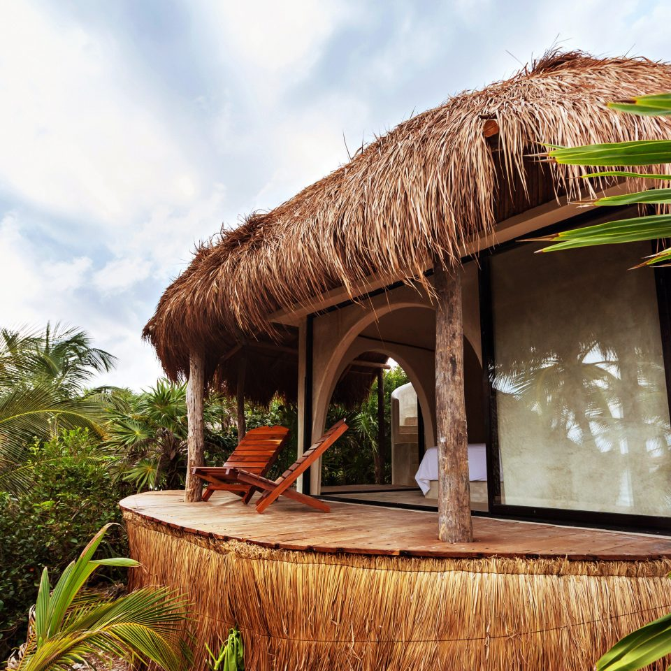 Deck Eco Island Villa sky tree Resort house hut arecales tropics Jungle plant home palm