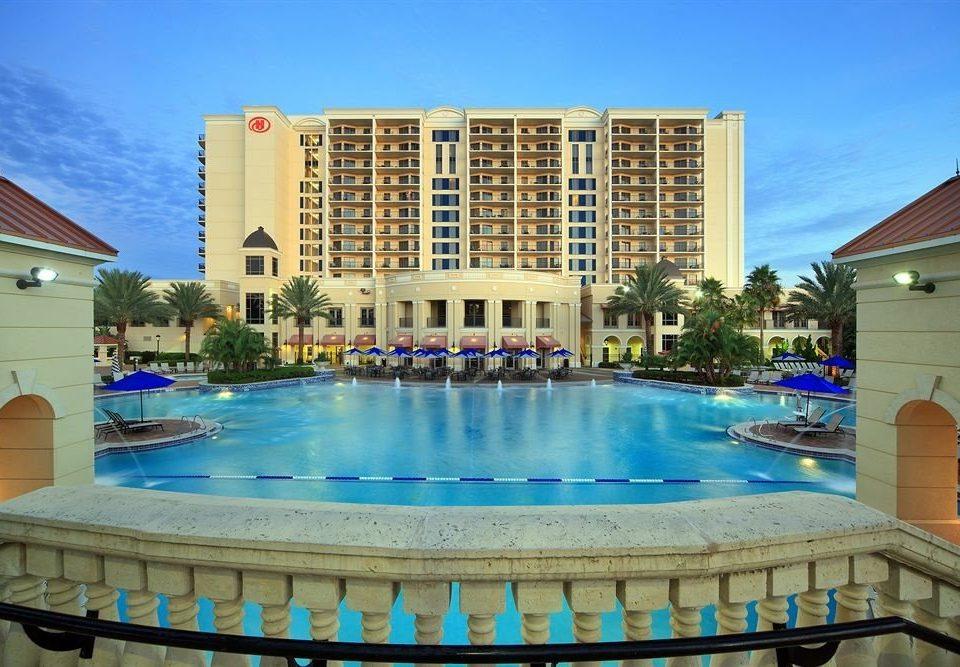 Elegant Lounge Luxury Modern Pool building sky condominium swimming pool property leisure Resort Villa blue empty Deck
