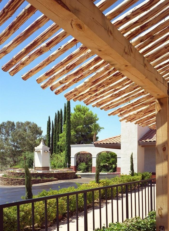 Fence building pergola property outdoor structure porch park cottage backyard Deck colonnade
