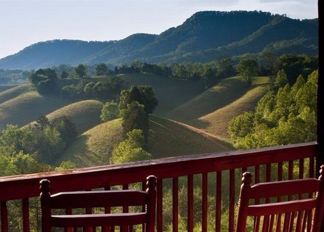 Fence mountain mountainous landforms Nature hill mountain range rural area landscape overlooking valley Deck hillside lush