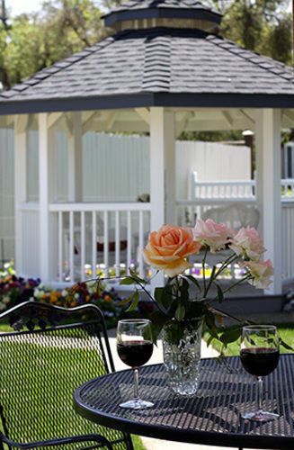 building chair gazebo backyard outdoor structure porch floristry cottage flower Garden Deck