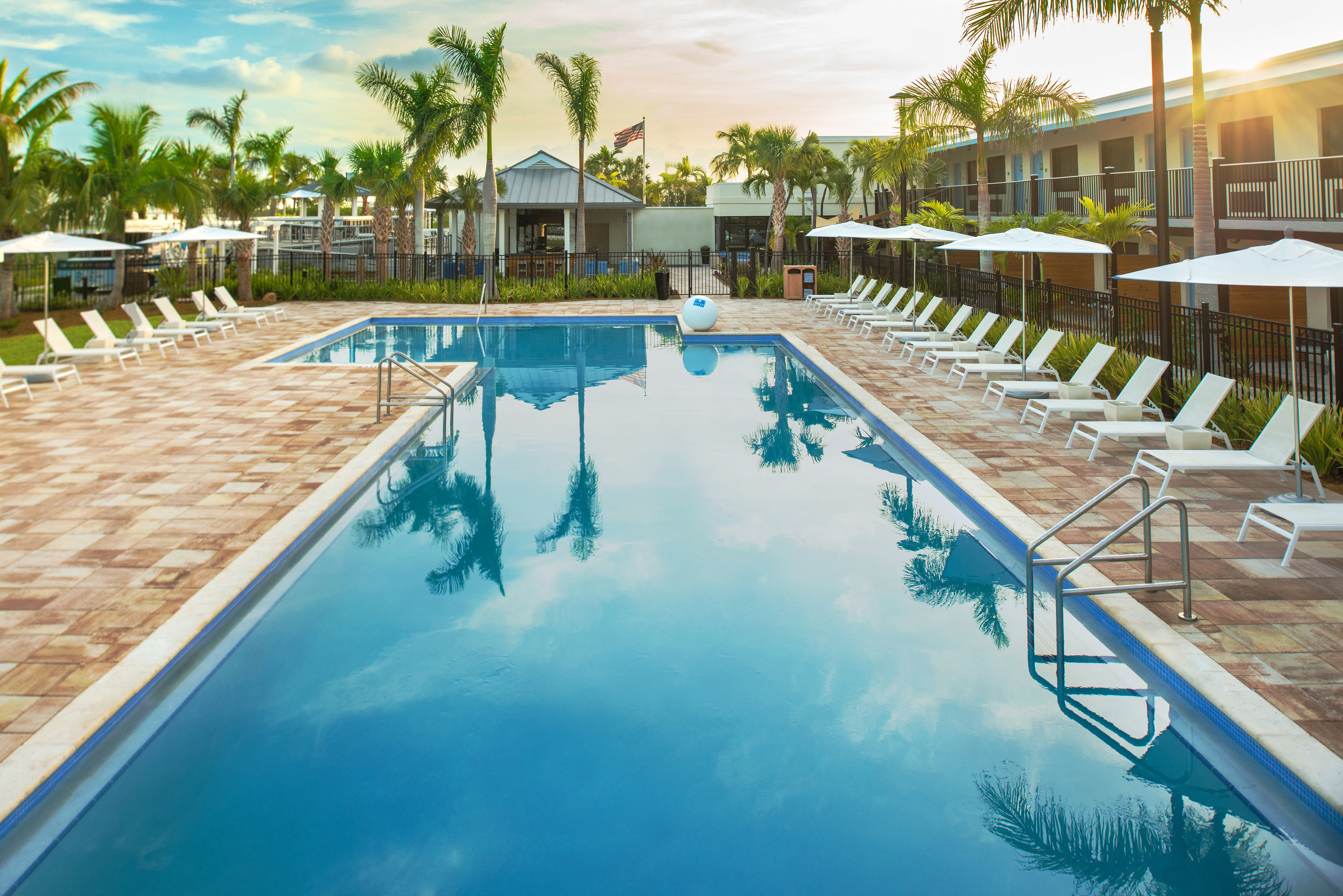 tree sky Resort swimming pool leisure property building Pool reflecting pool backyard condominium Villa Deck lined Garden