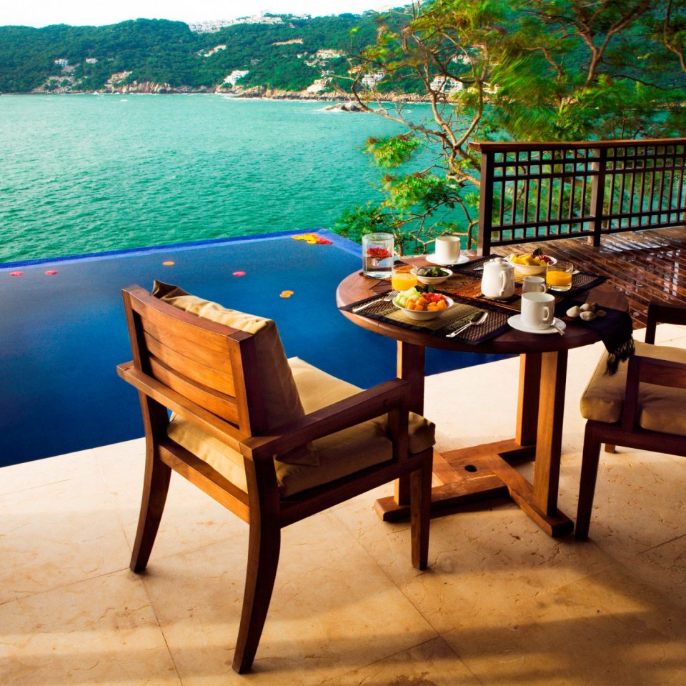 Deck Lounge Luxury Pool Romantic water leisure property home Villa Resort cottage overlooking Island