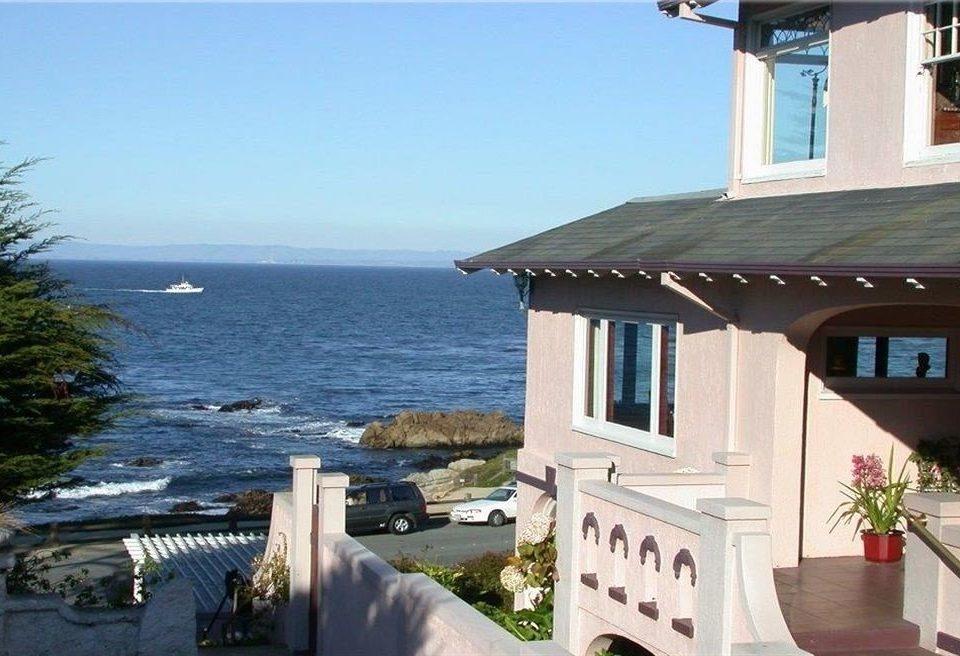 sky building property house Villa Resort cottage home porch overlooking Deck Island