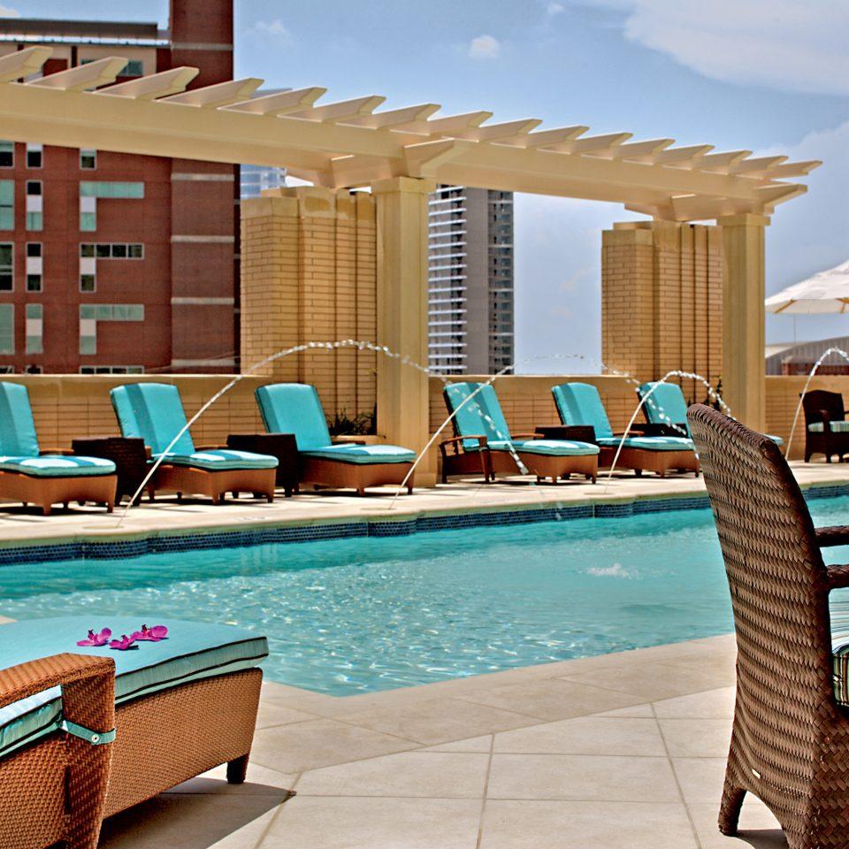 Deck Lounge Luxury Patio Pool Rooftop Terrace chair property swimming pool condominium leisure Resort home Villa backyard living room
