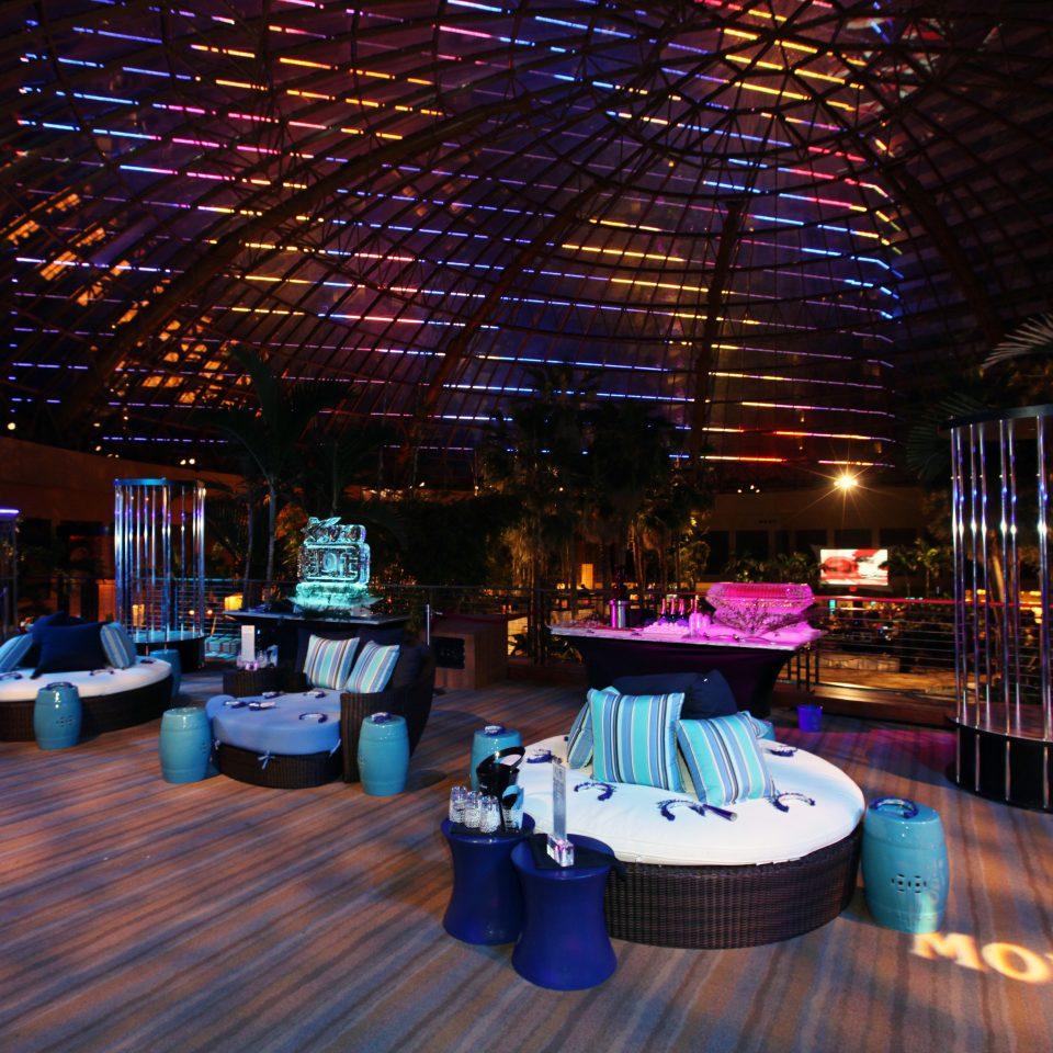 Deck Lounge Modern Patio Resort night lighting function hall nightclub evening