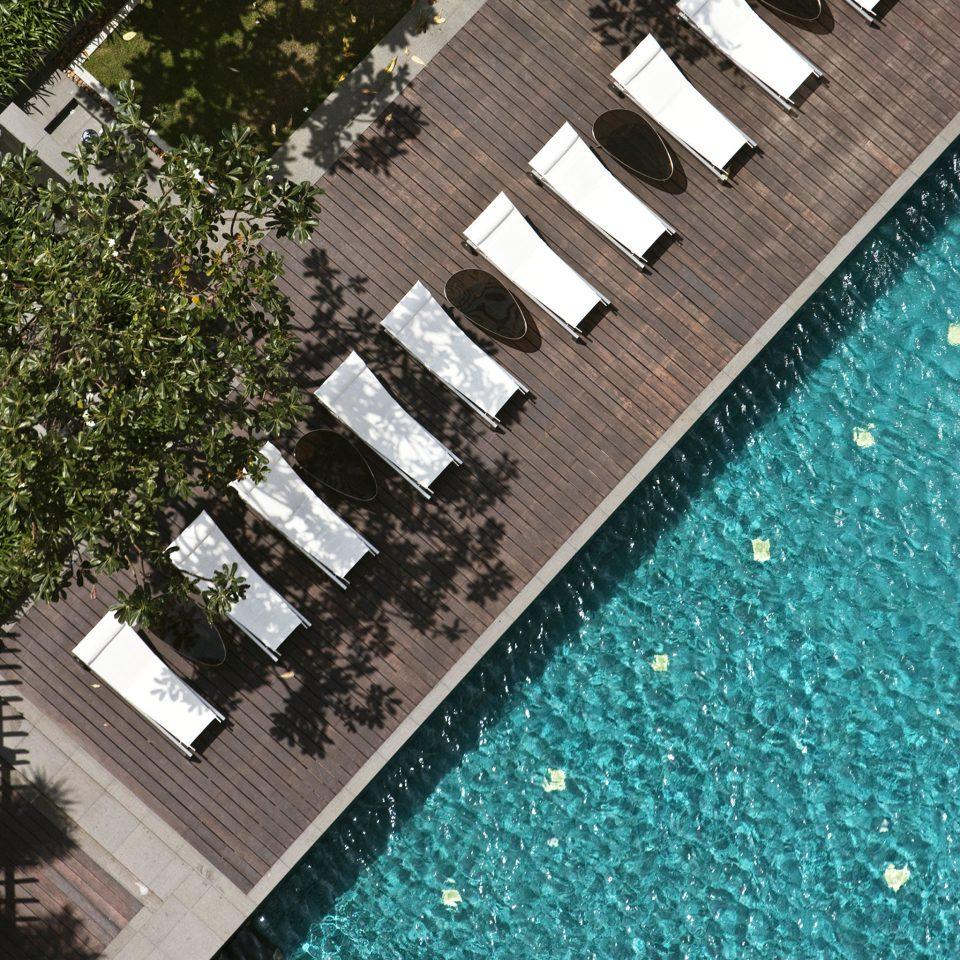 Deck Lounge Pool swimming pool aerial photography roof flooring stadium track