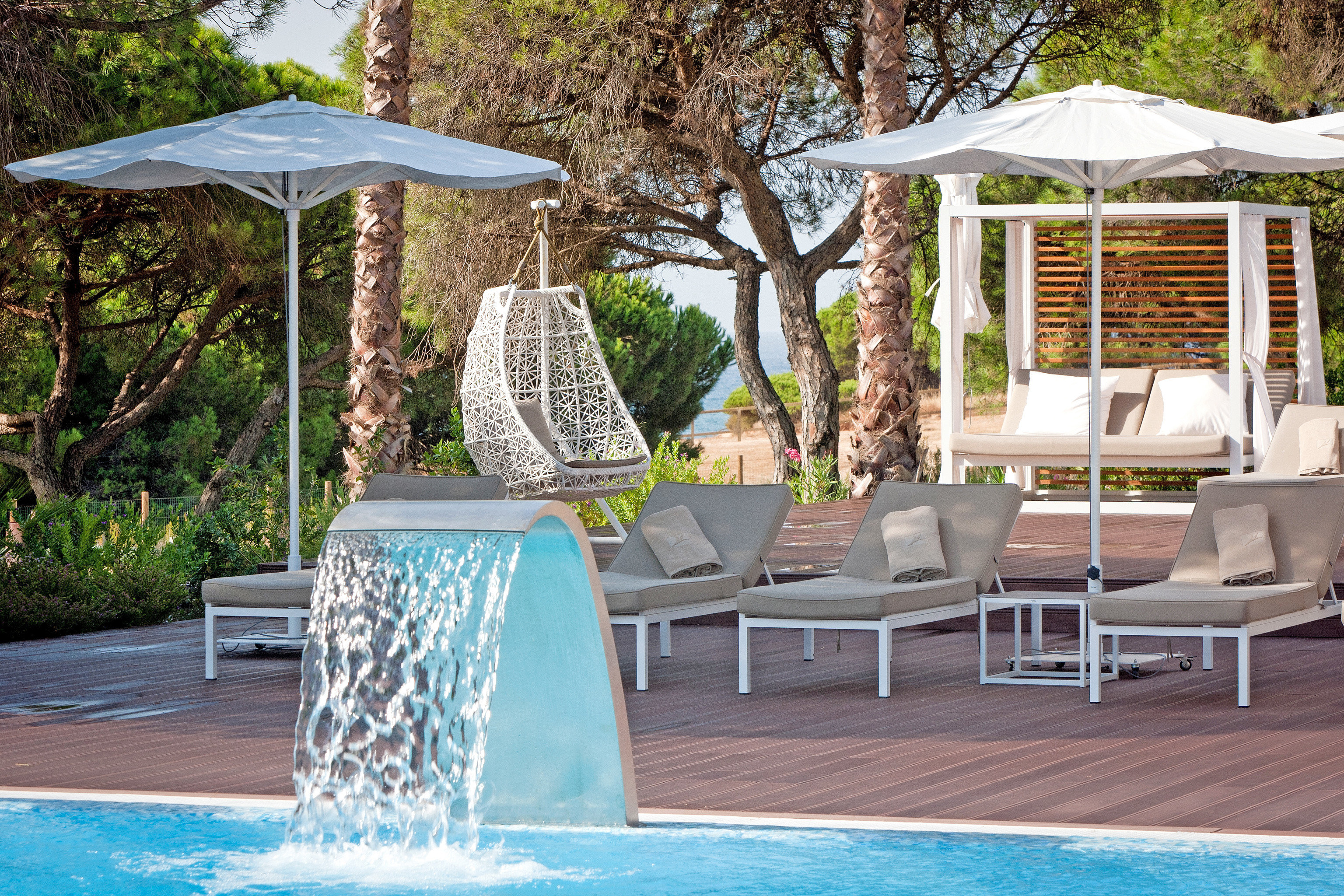 Lounge Pool Scenic views tree ground chair swimming pool leisure backyard outdoor structure Villa gazebo cottage Resort porch Deck
