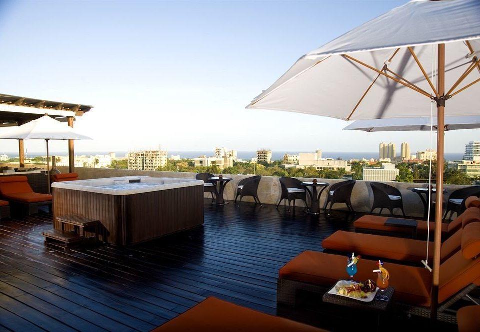 Deck Modern Rooftop Terrace sky water leisure chair Resort swimming pool dock marina restaurant Villa yacht vehicle