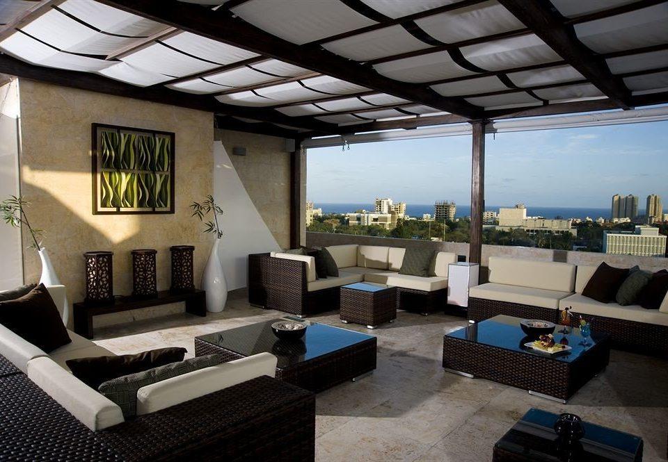 Deck Modern Rooftop Terrace property living room house home condominium Villa cottage