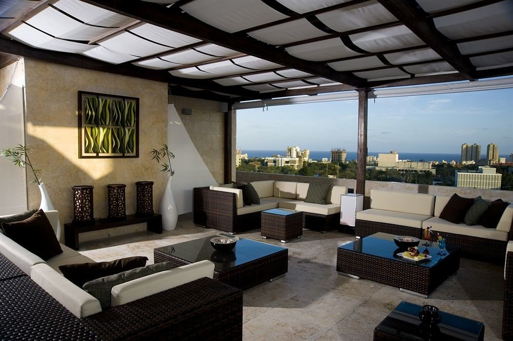 Deck Modern Rooftop Terrace property living room house home condominium Villa cottage