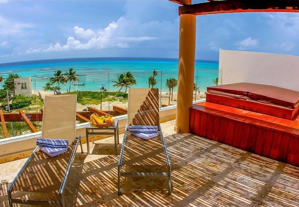 sky chair leisure property Resort caribbean Villa Ocean cottage swimming pool Deck