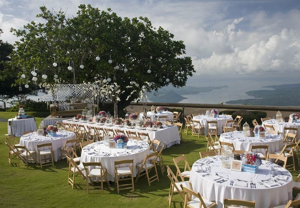 tree sky Picnic wedding ceremony set Deck