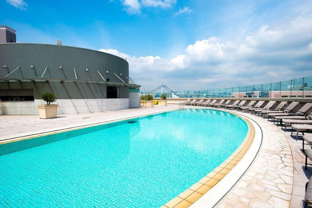 sky Pool swimming pool property leisure reflecting pool swimming Resort Villa blue Deck