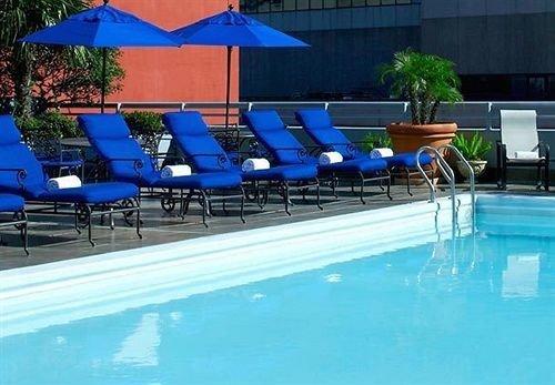 blue leisure Pool umbrella swimming pool chair Resort leisure centre Water park condominium Villa Deck swimming