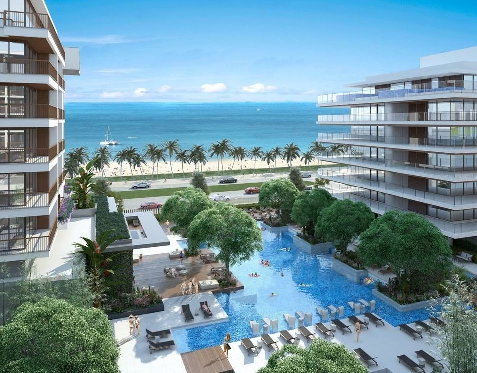 building sky condominium Resort marina property dock resort town apartment building caribbean overlooking Deck tower
