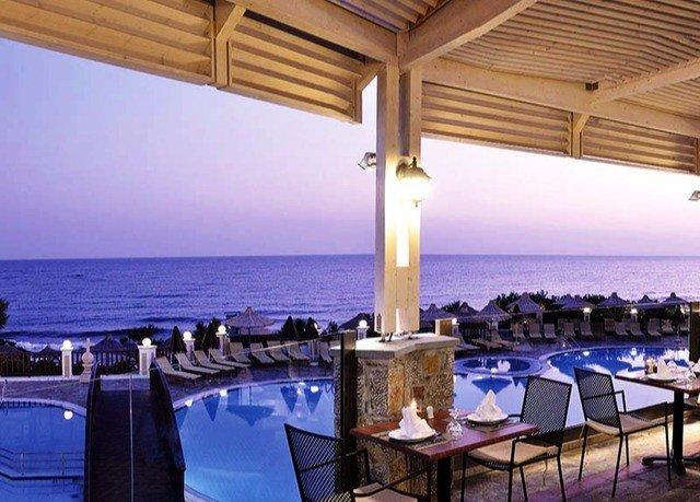 chair property restaurant Resort function hall blue Deck