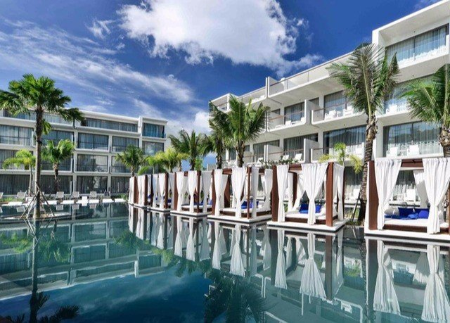 building condominium leisure property marina Resort swimming pool dock plaza residential area Deck porch