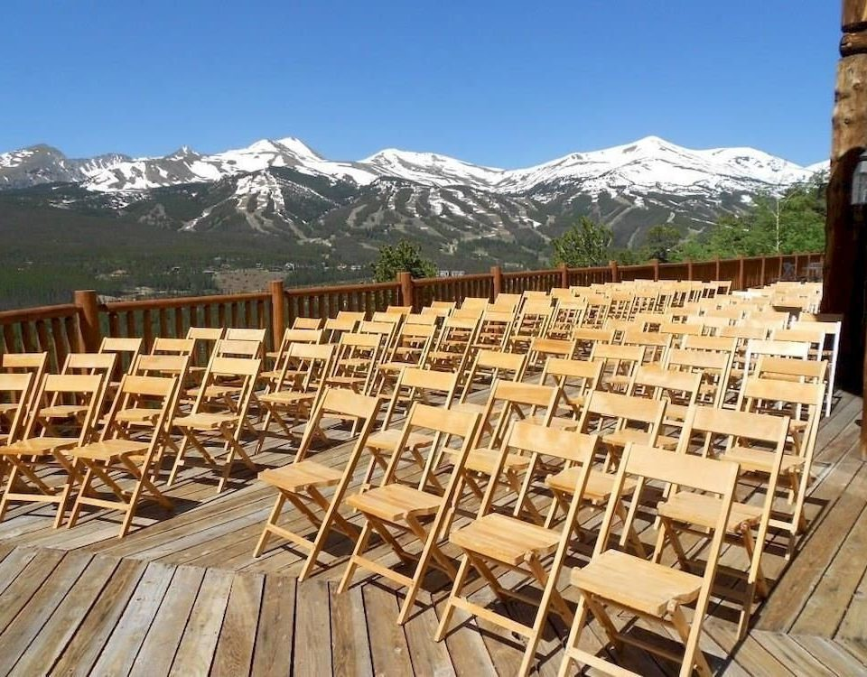 sky mountain chair wooden Resort Deck