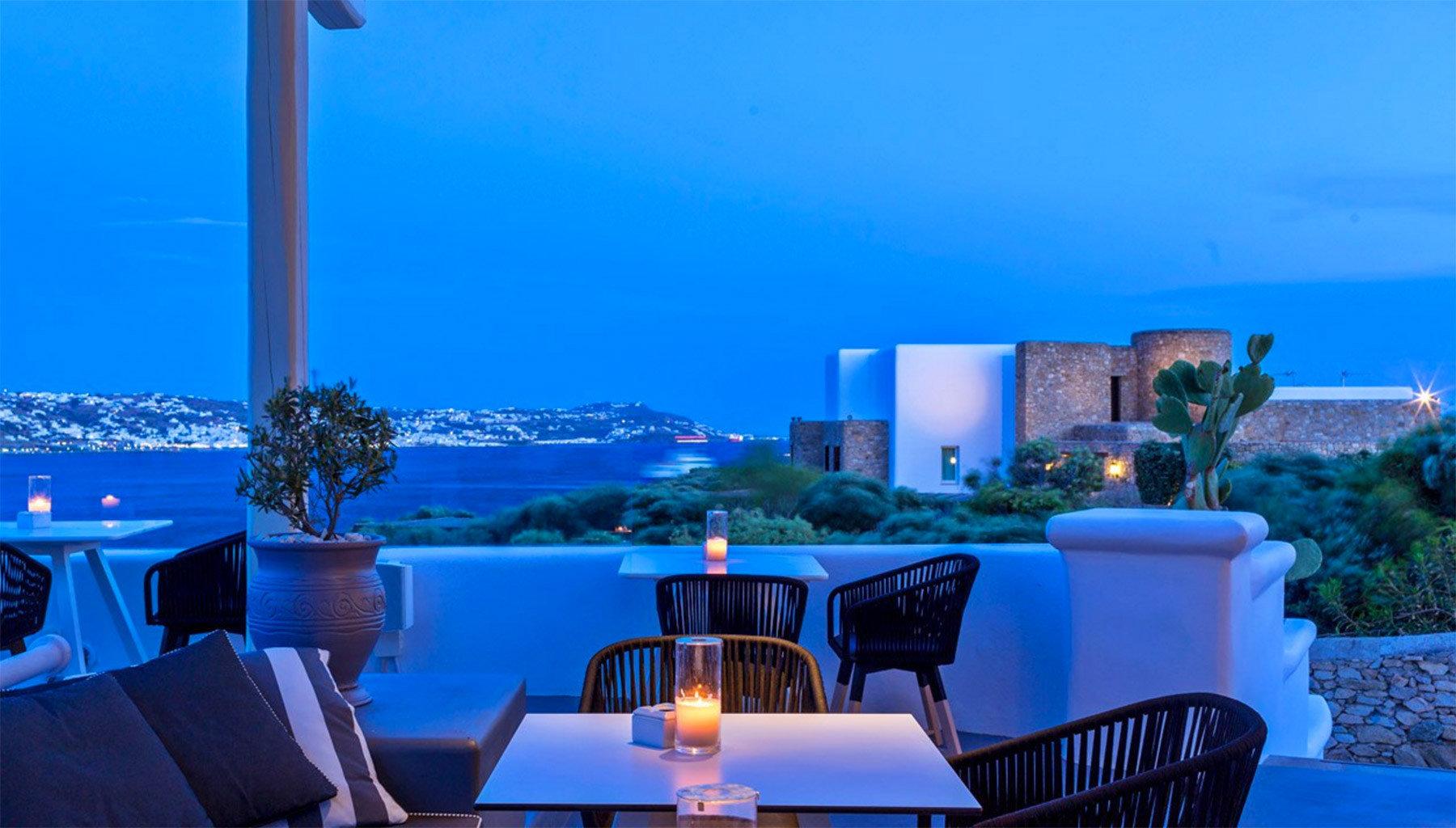 sky chair blue Resort swimming pool Sea restaurant Deck set