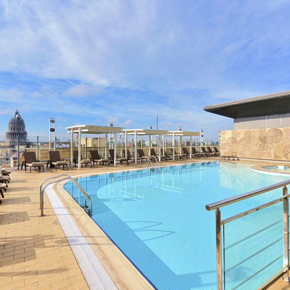 sky swimming pool chair leisure property walkway Resort dock condominium wooden Villa marina boardwalk Sea Deck railing lined