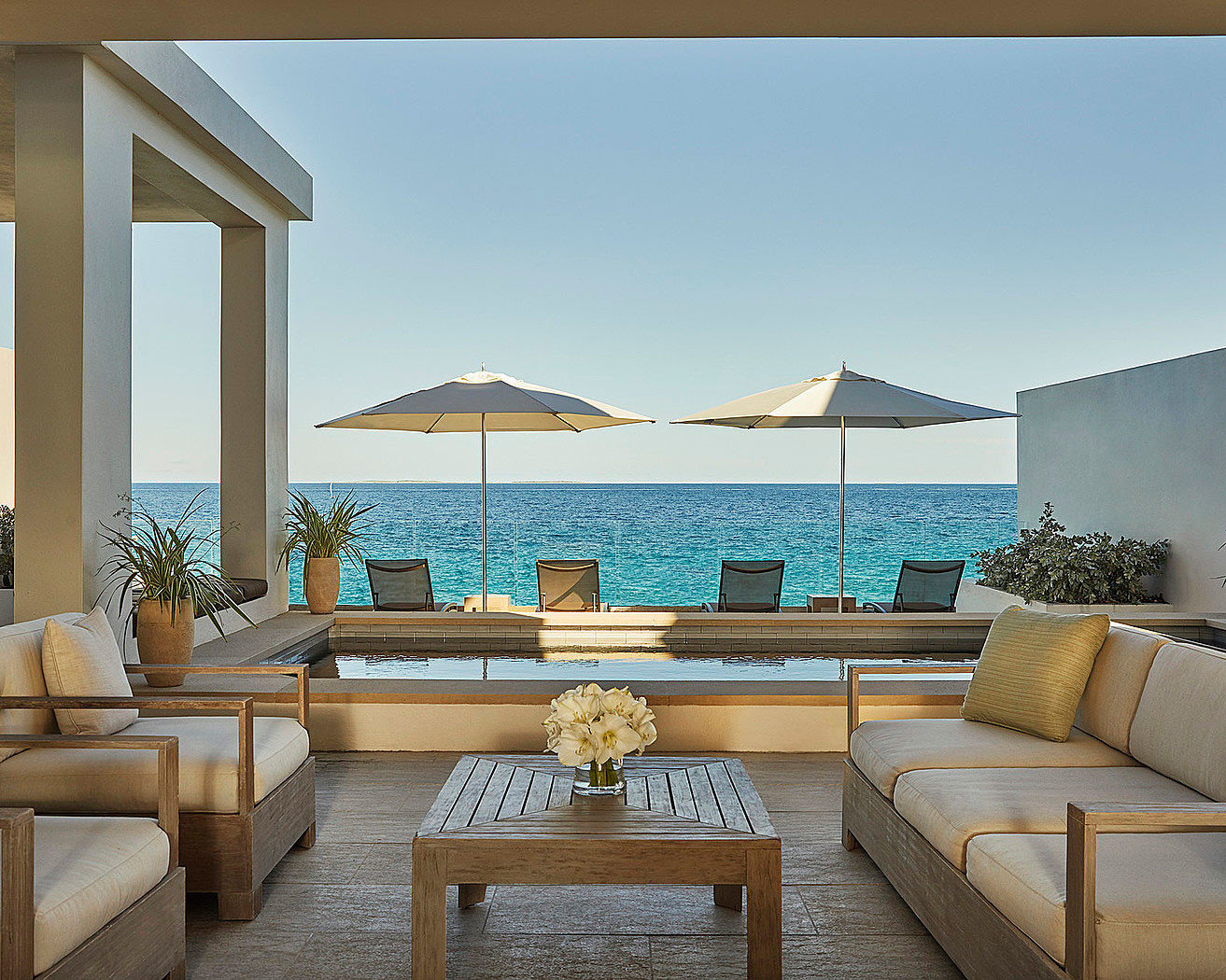 sky property swimming pool living room condominium house Villa home mansion Resort Suite Deck colored