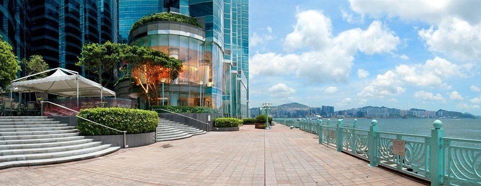 ground green building landmark Town walkway Resort condominium swimming pool cityscape Deck