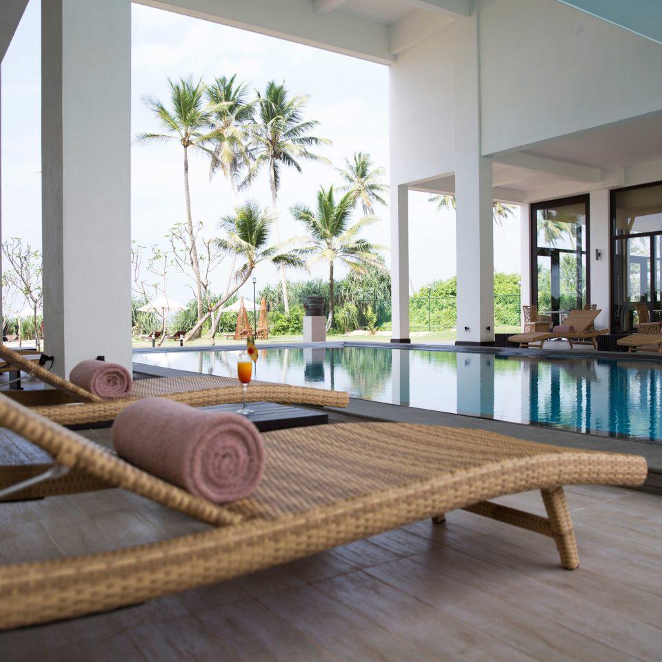 property building swimming pool wooden Resort home Villa condominium living room porch backyard Deck