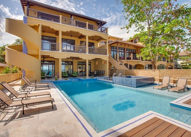 property swimming pool condominium Resort Villa building home mansion backyard Deck