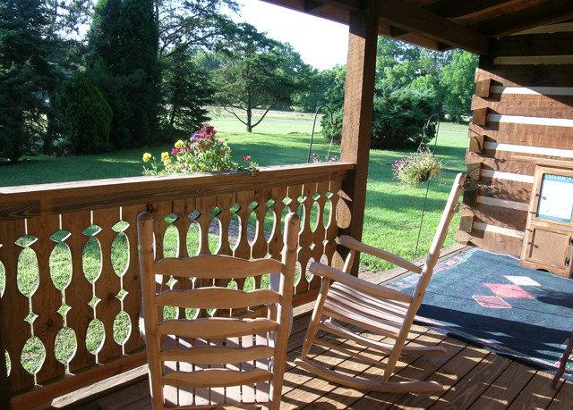 tree chair property backyard outdoor structure Deck porch cottage Resort Villa