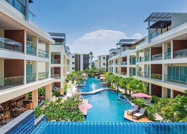 building condominium property Resort blue swimming pool Deck home resort town Villa mansion
