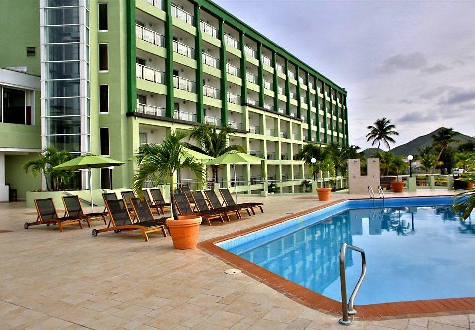 ground condominium building property leisure swimming pool plaza Resort home Villa blue Deck