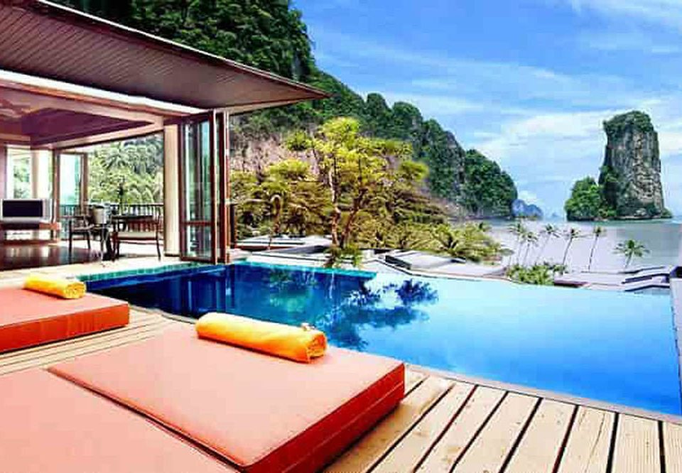 swimming pool property leisure building Resort Villa caribbean cottage Deck colorful colored