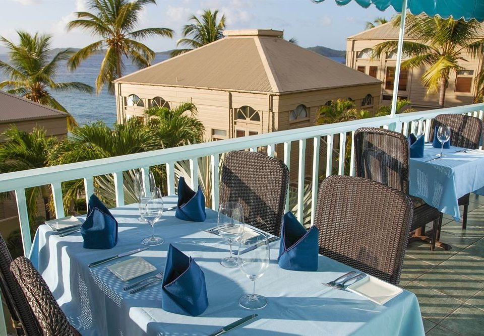 property Resort leisure Villa caribbean restaurant set Deck dining table