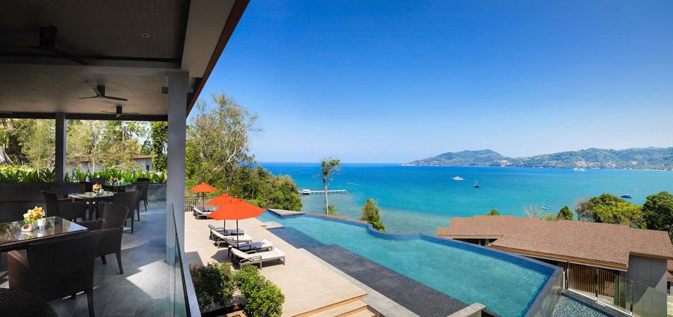 sky leisure property Resort swimming pool overlooking Villa home cottage Deck