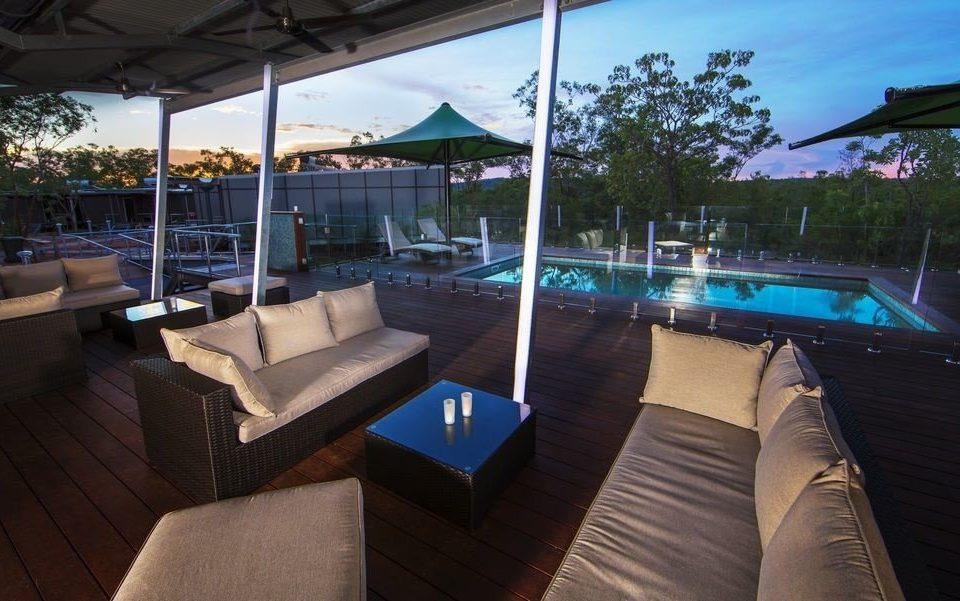 property swimming pool Resort vehicle Villa Deck