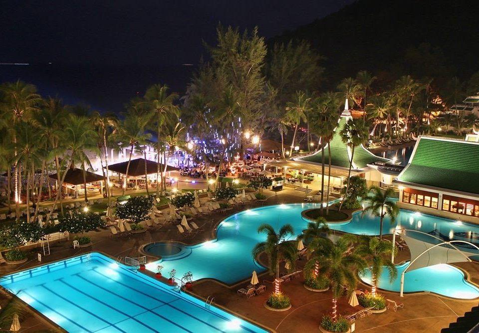tree Resort leisure amusement park resort town night screenshot Water park park swimming pool Deck