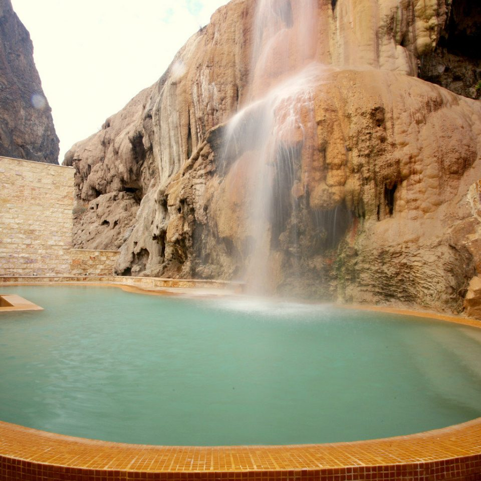 Desert Grounds Pool Waterfall mountain Nature swimming pool water water feature wadi